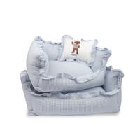 Blue Sky Check Cushion