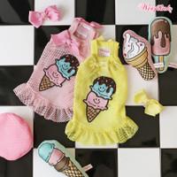 Wooflink Ice Cream Mesh Mini Dress