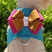 Bronze/Wine n Roses Bow on Montego Harness
