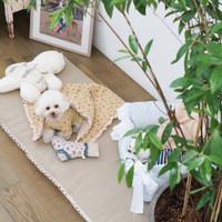 Louisdog Flat White Oblique Rug