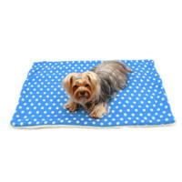 Blue with White Polka Dots Fleece/Plush Blanket