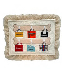 Shopaholic Cream Dog Mat