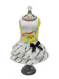 Barklenciaga Yellow City Dog Dress