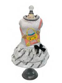 Barklenciaga Peach City Dog Dress