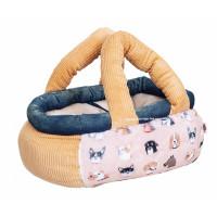 Orange Dogs Basket Dog Carrier
