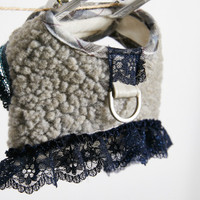 Louisdog Fuzzy Fur Harness Set