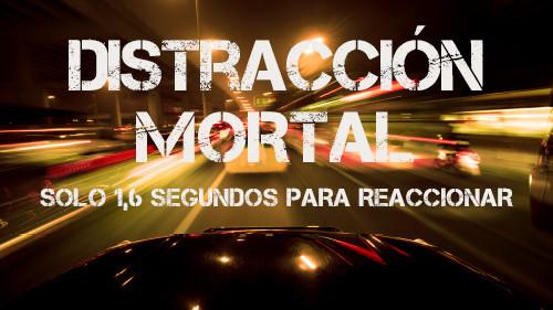 Distracciones Mortales:  Mantenga sus Ojos en el Camino  (Solo 1,6 Segundos para Reaccionar)