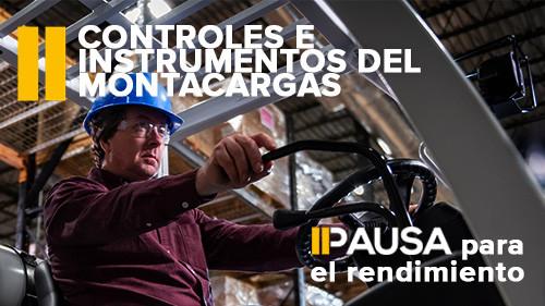 Pausa para el rendimento: Controles e instrumentos del montacargas