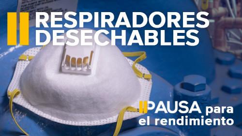 Pausa para el rendimiento: Respiradores desechables