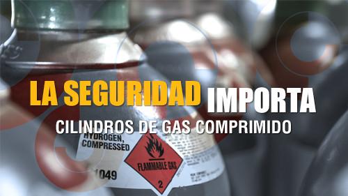 La seguridad importa: Cilindros de gas comprimido