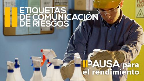 Pausa para el rendimiento: Etiquetas de comunicación de riesgos