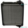 Radiator fits Case/IH MX100, MX110, MX120, MX135, MX150 135691A3