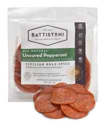 All Natural Uncured Pepperoni  - Silcilan Bold Spice, Cracker Cut, 5oz bag