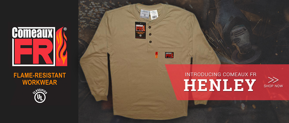 Introducing Comeaux FR Long Sleeve Henley T-shirt