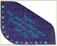 "OG Best Ever Pad with quote ""Never Run Faster Than Your Guardian Angel Can Fly."""