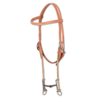 Loomis Gag Bit Browband - Twisted Wire Snaffle