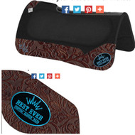 BHS black Kush with Cognac Floral wear leathers & Turquoise Patch