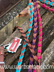 "5/8"" Latigo Laced Barrel Reins"