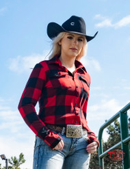PULLOVER BUTTON-UP (RED AND BLACK BUFFALO PLAID)