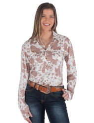 PULLOVER BUTTON-UP (COWHIDE PRINT)