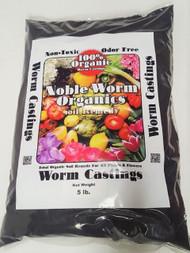 Organic Soil Noble Worm Castings 5 lb. Organic Worm Casting Soil