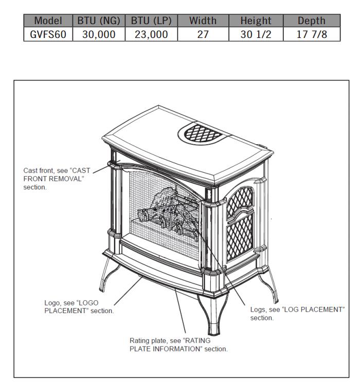 napoleon knightsbridge u2122 vent free gas stove - millivolt ignition -  metallic black