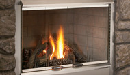 "Superior 42"" Stainless Steel Outdoor Gas Fireplace, Front Open"