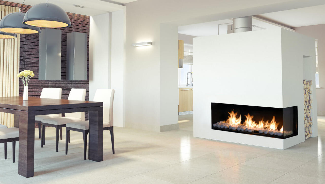 Flare Right Corner Modern Fireplace Embers Fireplaces