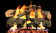 Realfyre Charred Evergreen Oak Gas Logs with G52 Radiant Fyre System