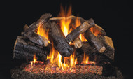 Realfyre GX4 Vented Gas Glowing Ember Burner System (with Heavy Duty Grate) with Standard Log Set - Charred Series