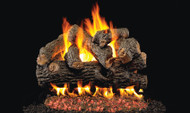 Realfyre GX4 Vented Gas Glowing Ember Burner System (with Heavy Duty Grate) with Standard Log Set - Designer Series
