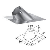 6'' DuraTech 0/12 - 6/12 Adjustable Roof Flashing  6DT-F6