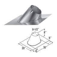 6'' DuraTech 7/12 - 12/12 Adjustable Roof Flashing  6DT-F12