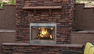 "Superior Purefire 42"" Paneled Outdoor Wood-Burning Fireplace -  White Herringbone Refractory Panels"