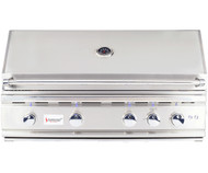 "Premium Commercial Grade BBQ loaded with standard features, including rotisserie kit, led back lighting and large 38"" BBQ"
