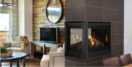 """Majestic Pearl II 36"""" Peninsula Direct Vent Multi Side Top/Rear Gas Fireplace with Intellifire Touch Ignition (NG)"""