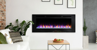 "Majestic Allusion 48"" Recessed Linear Electric Fireplace"