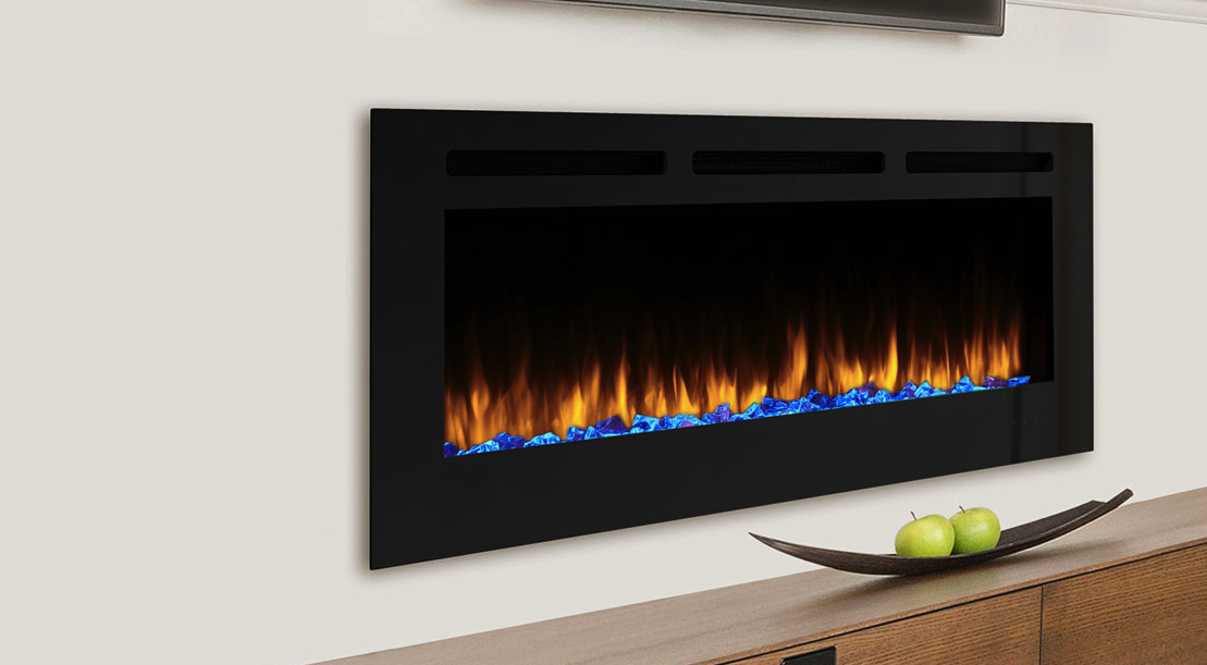Majestic Allusion 60 Recessed Linear Electric Fireplace Embers