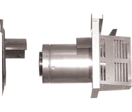 """Majestic Horizontal Termination Cap with Long Flue, attached Slip and Wall Shield with Heat Shield, 5-3/8"""" - 9-3/8"""" (137 -238mm) - DVP-TRAP2"""
