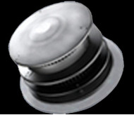 Majestic Horizontal High Rise Termination Cap, Glass Termination Base, DVP pipe (stainless steel) - DVP-HRC-ZC-SS