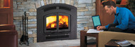 Regency Excalibur EX90 Large Wood Fireplace with Black Arch Surround
