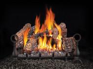 Fiberglow 24 Gas Log Set, Andirons & Cast Iron Grate