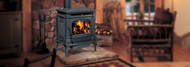 Hampton® H300 Large Cast Iron Wood Stove - Charcoal Gray