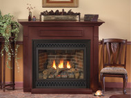 """Empire Tahoe Direct-Vent Fireplace Deluxe 36"""" - Intermittent Pilot Control with On/Off Switch (Battery Backup and AC Adapter) with Blower"""