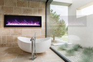 """Amantii 60"""" Extra Slim Indoor or Outdoor Electric Built-in Only with Black Steel Surround"""
