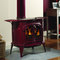 Vermont Castings Intrepid Wood Burning Stove shown in Bordeaux
