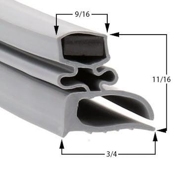 Delfield Gasket  21 3/4 x 27 1/4 - Profile 702