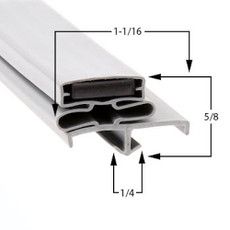 Nor-Lake Gasket 28 1/2 x 79 - No Mag Hinge Side