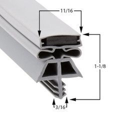 Kolpak Gasket 36 1/4 x 78 1/4 - 3 sided LH