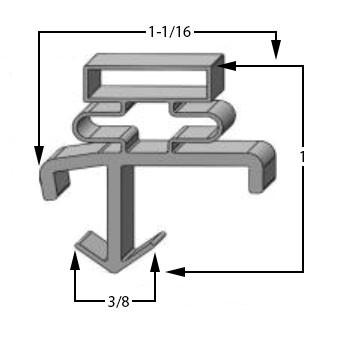 Profile 601 - 8' Stick